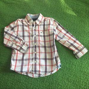 Tommy Hilfiger plaid button down shirt toddler